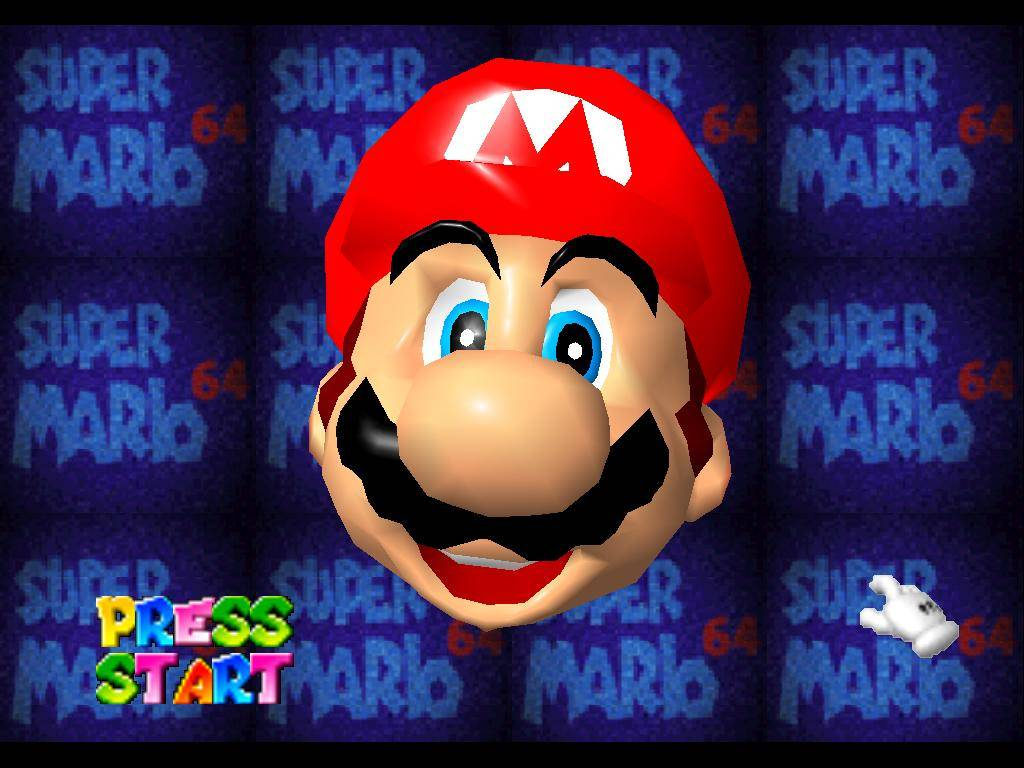 Super Mario 64 Startscreen