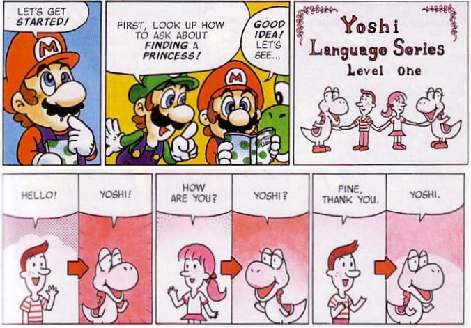Super Mario Comics Front